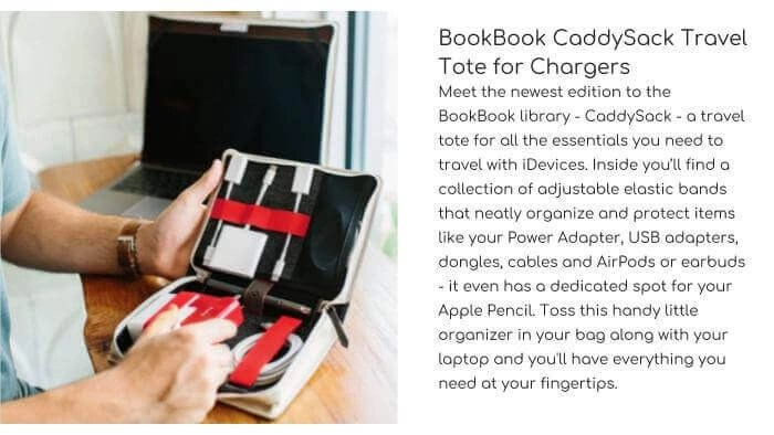 TWELVE SOUTH BookBook CaddySack Travel Tote for Chargers