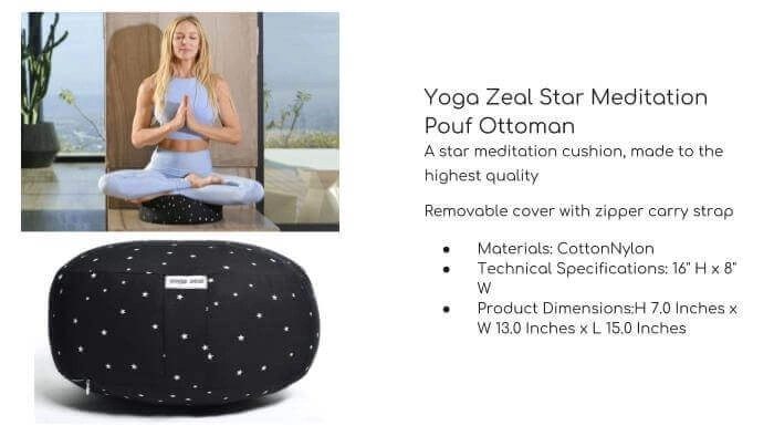 YOGA ZEAL Star Meditation Pouf Ottoman