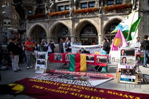 marienplatz 260615 1 - Kurdisch community of Munich remembers killed civilians in Kobane - 1
