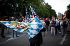 Flag waving.