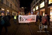 PEGIDA walking through old-town Munich.