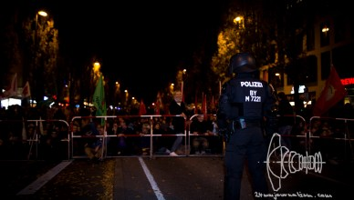 pegida 091115 6 - November 9th - PEGIDA Munich blocked from racist march on historically charged date