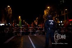 PEGIDA route blocked by civil protestors.