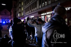 PEGIDA marshall insulsts counter protests and tension rises