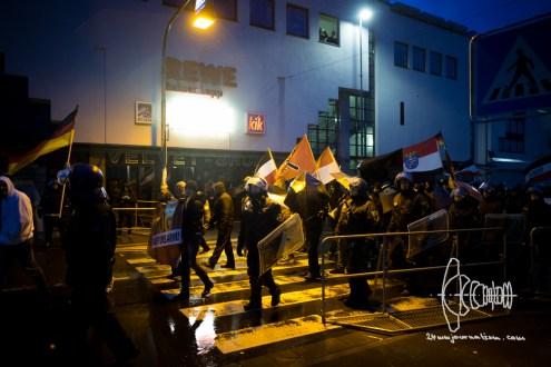 Neonazis start marching.