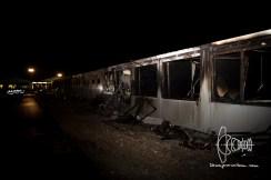 Fire in refugee housing unit in Munich.