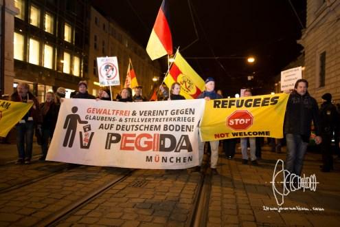 PEGIDA demonstrates through Munich