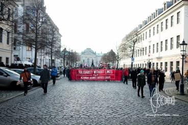 """Demonstration reaches alternative quarter """"Neustadt."""""""