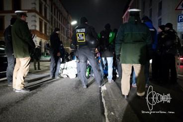 Roadbock by antifacists.