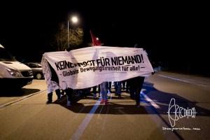 sponti refugeeunterkunft milbertshofen 20160306 2 - Spontaneous demonstration after arson on future refugee shelter