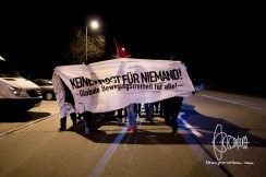 Front-banner of spontaneous demonstration.