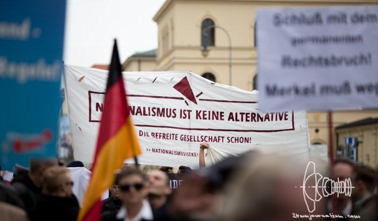 afd odeonplatz 20160416 16 - AfD Munich holds rally on Odeonsplatz