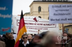 Banner of the 'Nationalismus ist keine Alternative' Campaign