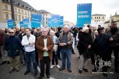 AfD Munich holds rally on Odeonsplatz