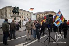 Lukas Bals and Markus Walter 'Die Rechte' join PEGIDA.