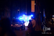 Shooter is transported to the hospital, wounded by police bullets.