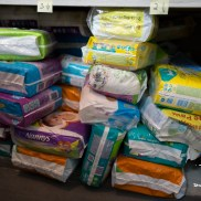 The storage. Diapers.