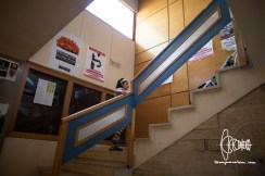 The entry-hall. Stairs into a self-organized and better life for lots of refugees.
