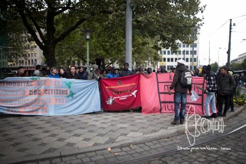 Beginning of protest march at Sendlinger Tor.