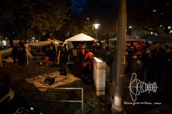 Eviction of hunger strike refugee camp at Sendlinger Tor in Munich