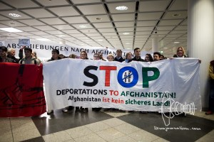 deportation munich airport 20170222 3 - Germany deports to Afghanistan from Munich airport - activists rally at Munich airpor