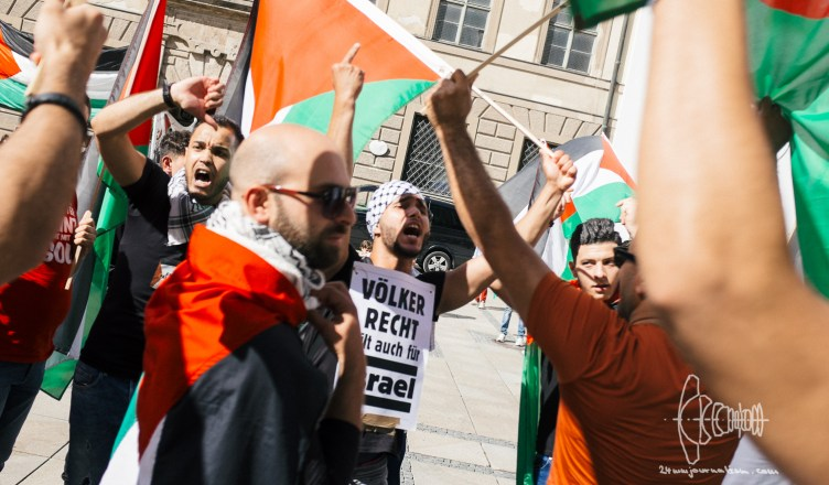 propalestine 20170729 8 - 'Free Palestine' Demonstration in Munich - Photographer Attacked