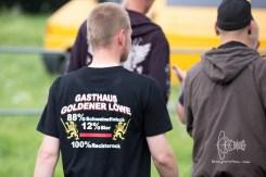 "Back of ""HTLR SCHNTZL"" Shirt."