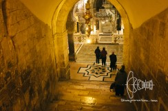 Stairway into the Church of the Holy Sepulchre