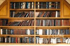 Bookshelf next to the Western WAll.