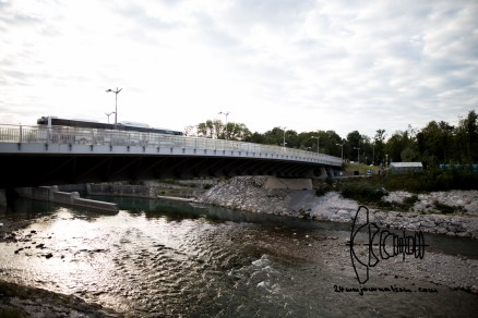 Bridge that crosses the river to Germany.