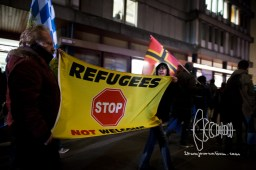 """""""Refugees Not Welcome"""" flag"""