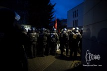 Counte protest gets close to neonazi route.