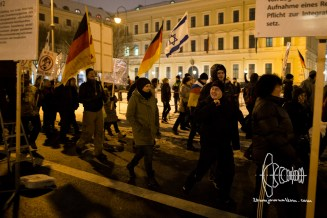 PEGIDA re-arrives at Odeonsplatz.