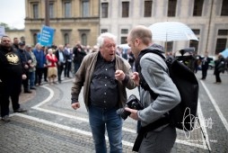 Colleague Robert Andreasch gets threatened several times and attacked.