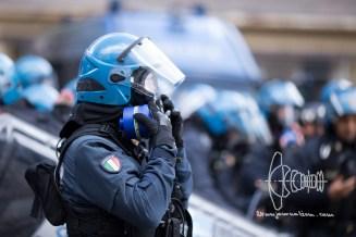 Police uses massive amount of tear-gas.