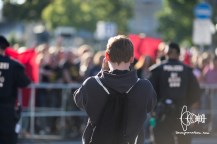 Dan Eising taking pictures of counter-protest.