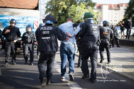 Arrest of an activist.