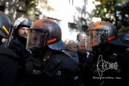 Paint on police helmet.