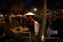 Eviction of hunger strike refugee camp at Sendlinger Tor in Munich