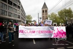 Reclaim Feminism banner.