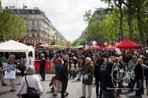 People gather on Place de la Republique