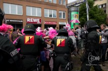 Police pushes Samba group off street