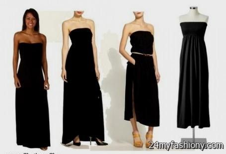 black strapless maxi dress old navy 2016-2017 » B2B Fashion