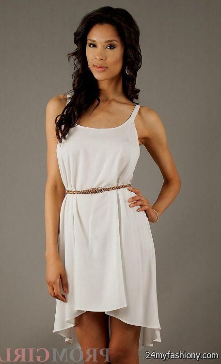 casual white high low dresses 2016-2017 » B2B Fashion