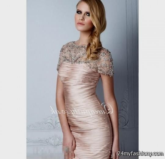 champagne beaded cocktail dress 2016-2017 » B2B Fashion