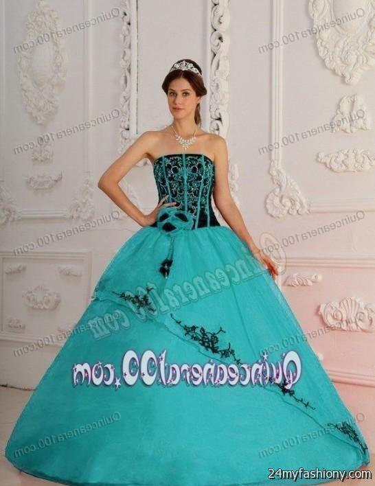 dark turquoise and black quinceanera dresses 2016-2017 » B2B Fashion