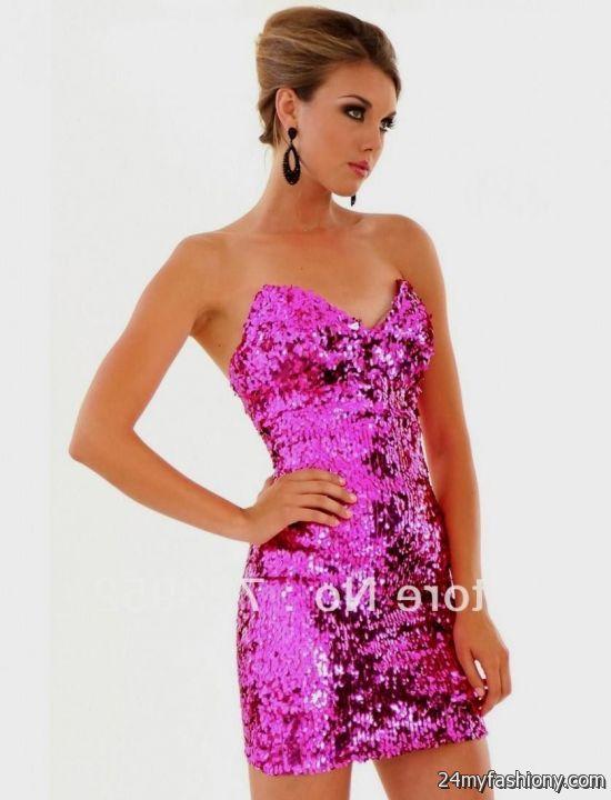hot pink sequin dress 2016-2017 » B2B Fashion