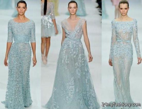 Ice Blue Winter Wedding Dress Looks