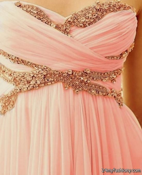 light pink and gold maxi dress 2016-2017 » B2B Fashion