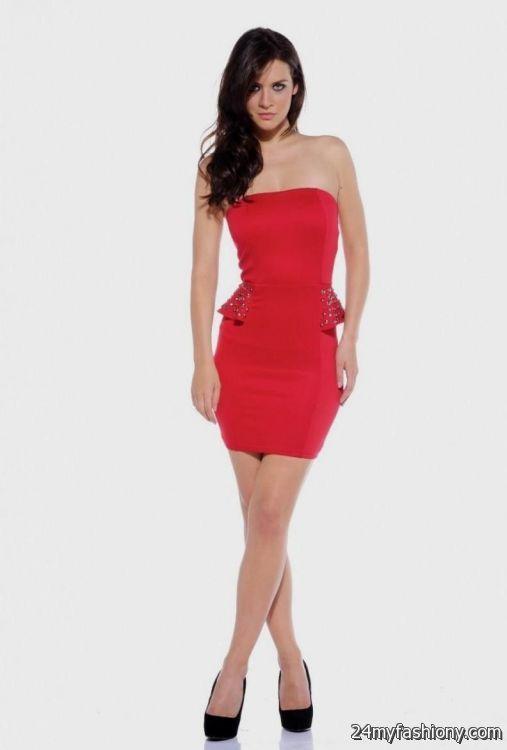 little red strapless dress 2016-2017 » B2B Fashion
